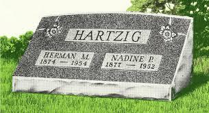 headstone pictures slant granite headstones bluhm monument works inc