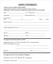 leave application template leave application form template free
