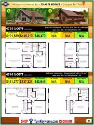 mountain chalet house plans 4715 loft e1 wisconsin home inc modular chalet home plan price