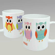owl mug personalised owl mug pastels and poppies
