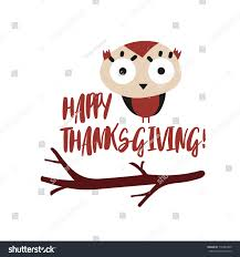 thanksgiving template owl banner stock vector 716487805