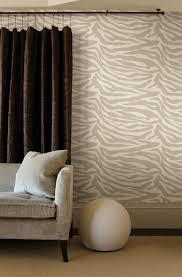 zebra print living room feature wall wallpaper modern decor idea
