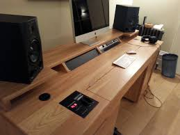 custom built recording studio desk built to house doepfer lmk2