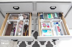 bathroom organizing ideas dollar store bathroom drawer organization the summery umbrella