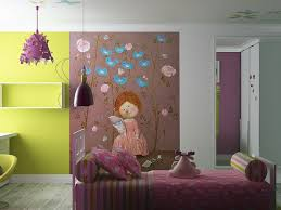 Girls Murals by Wall Baby Nursery With Funny Wall Mural Design Ideas Kids