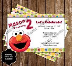 novel concept designs elmo birthday party ticket invitation
