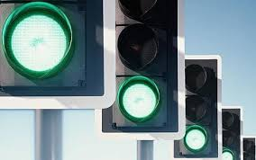motorists to be given green traffic lights if they stick to speed