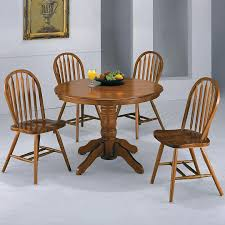 Oak Table With Windsor Back Chairs Crown Mark Windsor Solid Oval Pedestal Dining Table Wayside