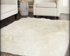 Sheepskin Area Rugs Sale Fss115a White Faux Fur Rug Fur And Bedrooms