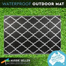 Woven Plastic Outdoor Rugs by Rug Mat Woven Waterproof Plastic Outdoor Camping Picnic Black