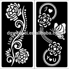 flower henna tattoos stencil hands feet painting templates mehndi