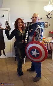 Captain America Halloween Costumes Black Widow Captain America Couple Costume