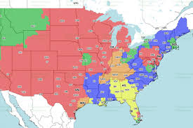 Philadelphia Pa Map Eagles Bears Game Tv Coverage Map Bleeding Green Nation