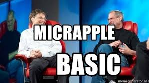 Bill Gates And Steve Jobs Meme - micrapple basic steve jobs and bill gates laugh meme generator