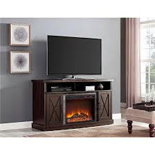 Electric Fireplace Tv Stand Ameriwood Home Barrow Creek Electric Fireplace Tv Stand For Tvs Up