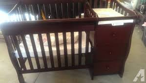 Sorelle Newport Mini Crib Mini Crib With Drawers Changing Table Shelves For Sale In