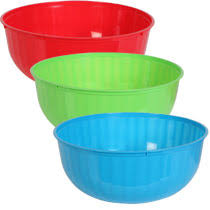 large colorful plastic bowls 12 dia dollar tree time