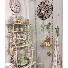 etagere shabby horloge murale chiffre