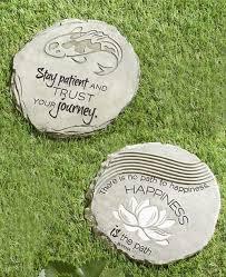 inspirational zen garden stepping stones set of two