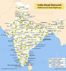 map on road india road map india road network road map of india with