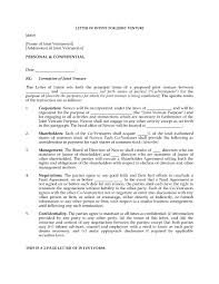 Sample Of Letter Of Intent For Business Proposal by Letter Of Intent To Form Joint Venture Legal Forms And Business