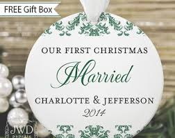 personalized wedding ornament our christmas married ornament wedding gift personalized