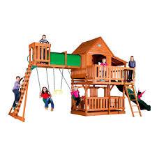 Backyard Cedar Playhouse by Backyard Discovery Woodridge Ii All Cedar Playset 6815com The
