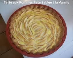 cuisine tarte aux pommes tarte aux pommes pâte sablée à la vanille mes petites recettes