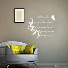 inspirational quote wall sticker life is like a box of chocolate inspirational quote wall sticker life is like a box of chocolate home decor butterfly wall decals living room decoration designer wall decals designer wall