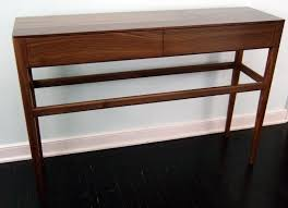 mid century entry table custom danish mid century modern style console table with drawers