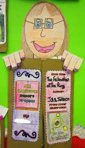 paper bag book report template runde s room we ve got our heads stuck in a book