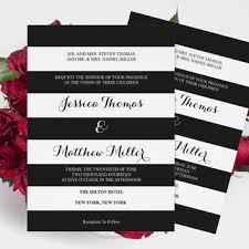 black and white striped wedding invitations pocket wedding invitation templates set from graphicartdesign