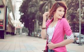 wallpaper girl style wallpaper redhead girl smile street town walk jacket style