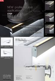 Stair Lighting by Led Step Extrusion Stair Lighting