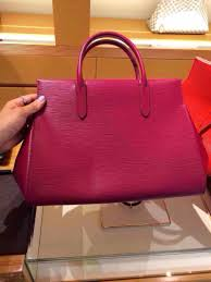 authentic louis vuitton epi leather marly mm bag m94615 fuchsia