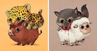 cute predators vs used to be cute prey part 2