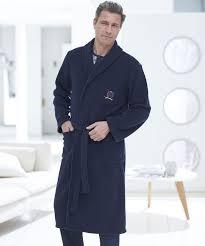 robe de chambre pour homme grande taille robe de chambre en polaire 120 cm marine homme damart