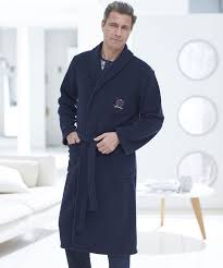peignoir de chambre robe de chambre en polaire 120 cm marine homme damart