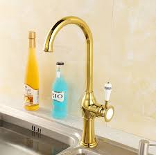 high end polished brass single handle discount kitchen faucets