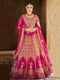 rani pink colour colour trendz rani mastani u0026 net designer heavy bridal lehenga