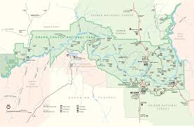 Arizona Map Of Cities Map Of Grand Canyon National Park Grand Canyon Pinterest