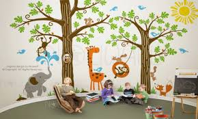 Jungle Wallpaper Kids Room by Jungle Theme Room Probrains Org