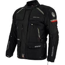 black motorbike jacket richa atlantic gtx 100 waterproof gore tex motorcycle motorbike