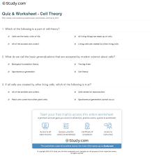 quiz u0026 worksheet cell theory study com