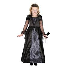 Evil Queen Costume Wicked Queen Princess Girls Halloween Fancy Dress Kids Costume