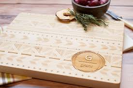 personalized wooden gifts custom housewarming gift tribal pattern wooden cutting board