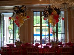 mylar balloon bouquets theme centerpieces with mylar balloons bar