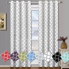 geometric curtains drapes u0026 valances thermal lining ebay