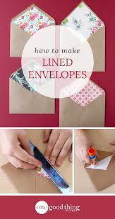 How To Make A Card Envelope - customize your valentines with these easy lined envelopes