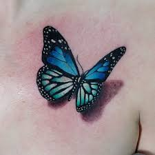 collection of 25 lovely blue butterfly design